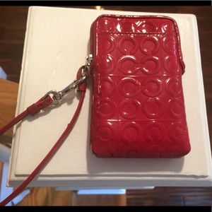 Coach Patent Leather Cell Phone Wristlet